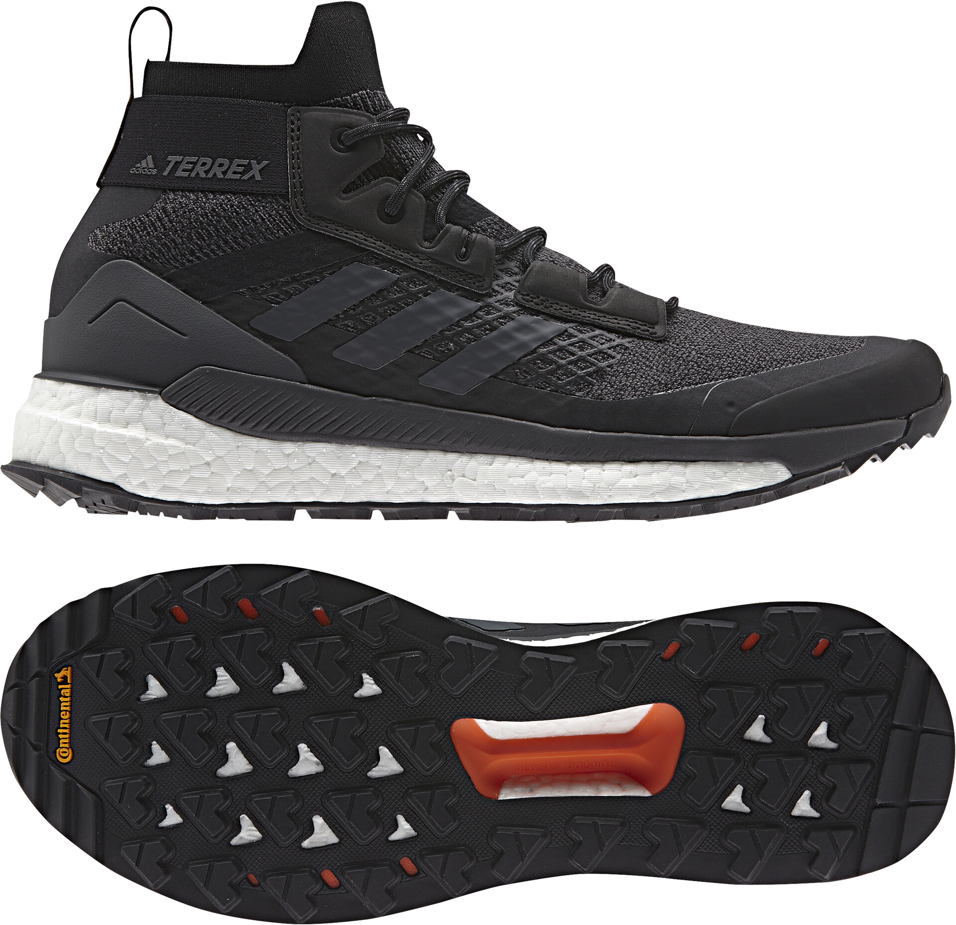 adidas TERREX Free Hiker Chaussures de randonnée Homme, core blackgrey sixactive orange